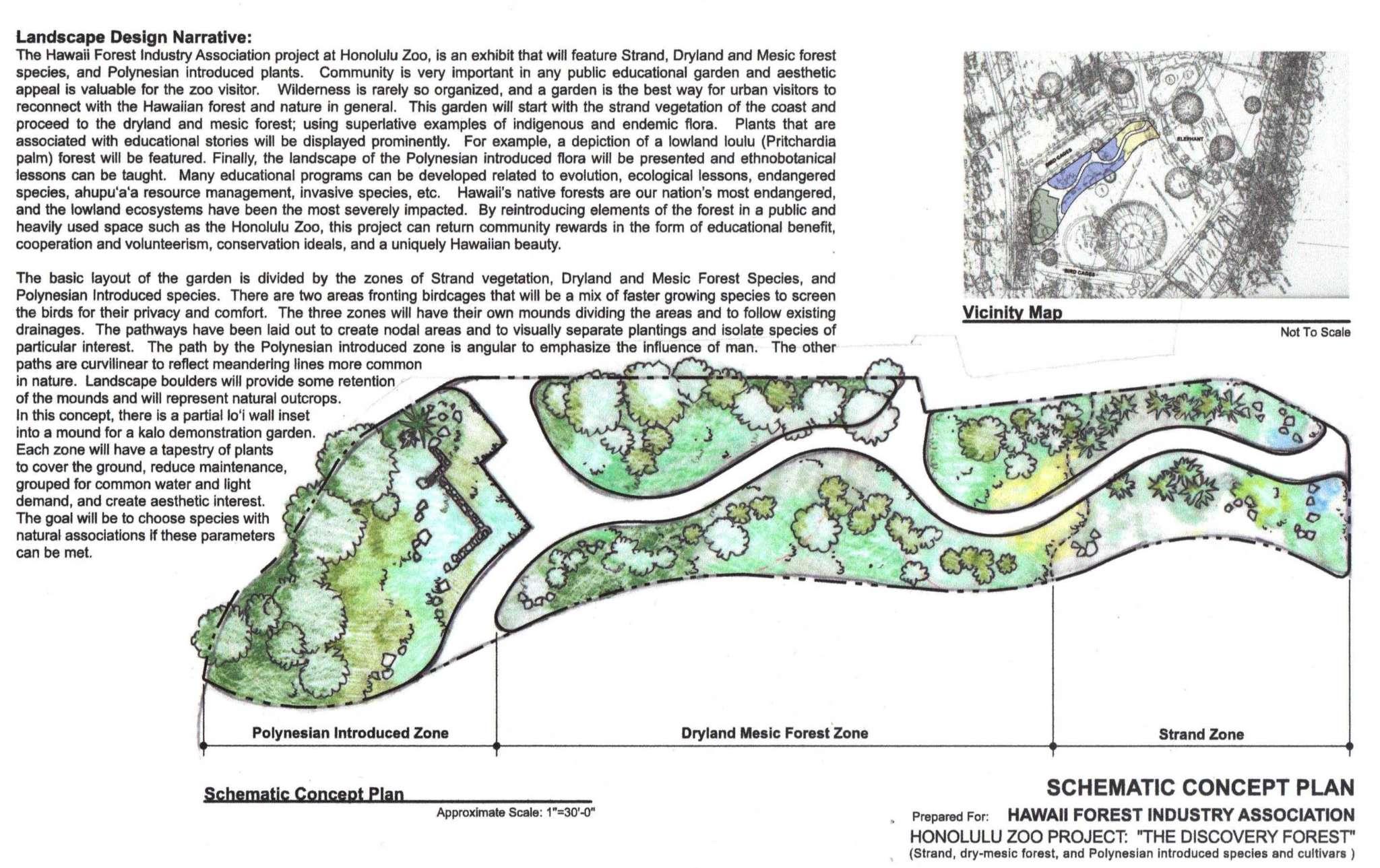 Schematic Concept Plan – Hawaii Forest Institute