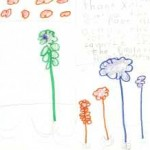 Student drawing and writings about Discovery Forest experience.